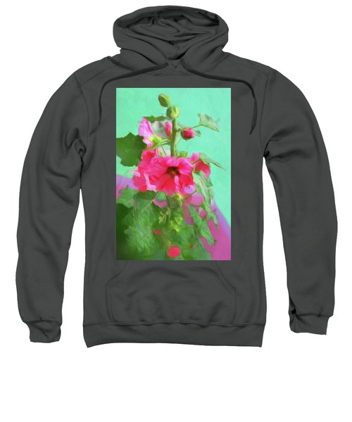 Hollyhocks - 2  Sweatshirt