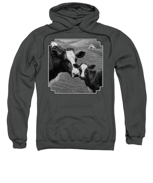 Holstein Cow Farm Black And White Sweatshirt by Crista Forest
