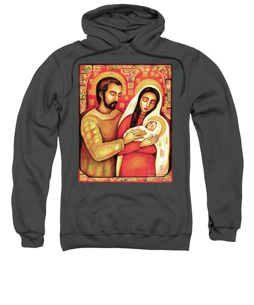Sweatshirt featuring the painting Holy Family by Eva Campbell