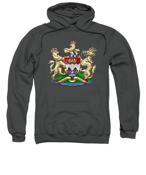 Hong Kong - 1959-1997 Coat Of Arms Over Red Leather  Sweatshirt