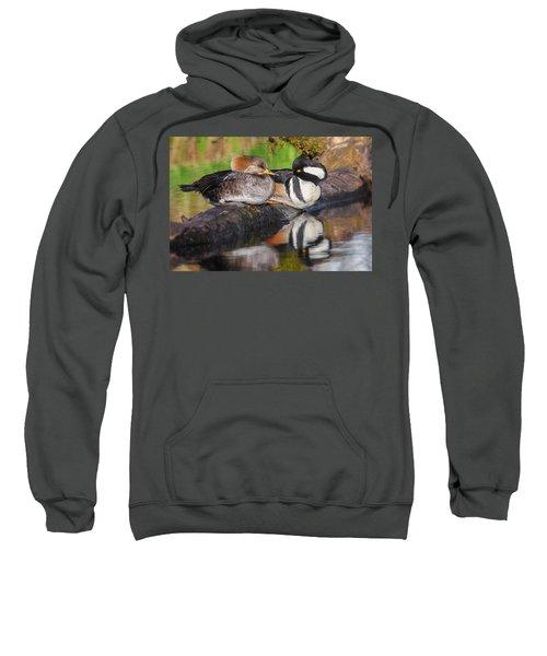 Hooded Merganser Pair Sweatshirt