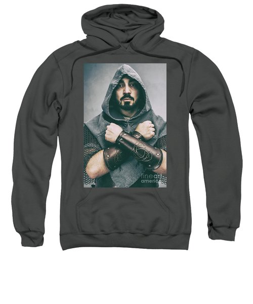Hooded Viking Warrior Sweatshirt
