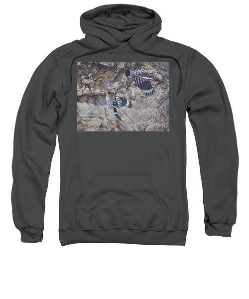 Hoopoes Feeding Sweatshirt