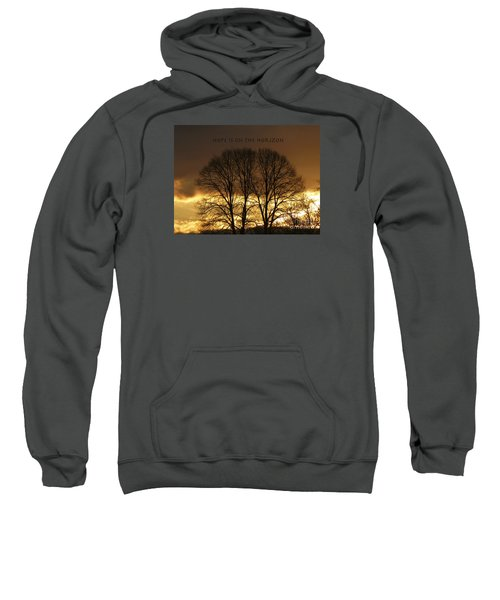 Sweatshirt featuring the photograph Hope Is On The Horizon by Dee Flouton
