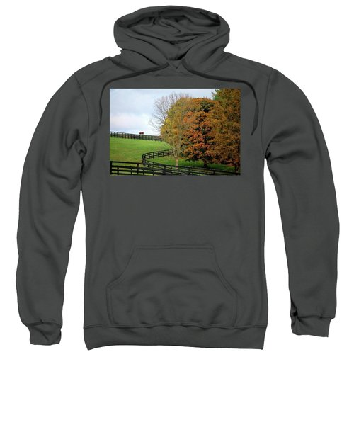 Horse Farm Country In The Fall Sweatshirt