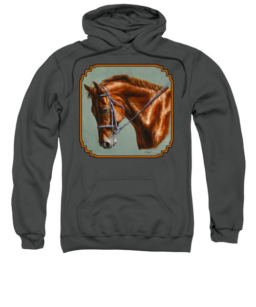 Horse Painting - Focus Sweatshirt by Crista Forest