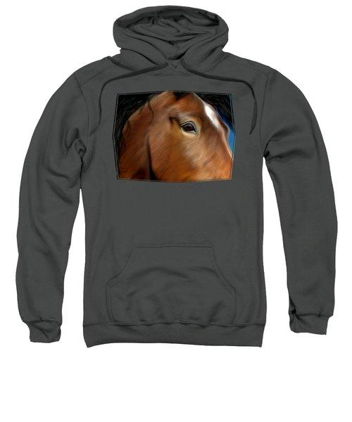 Horse Portrait Close Up Sweatshirt