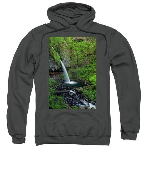 Horsetail Falls Waterfall Art By Kaylyn Franks Sweatshirt