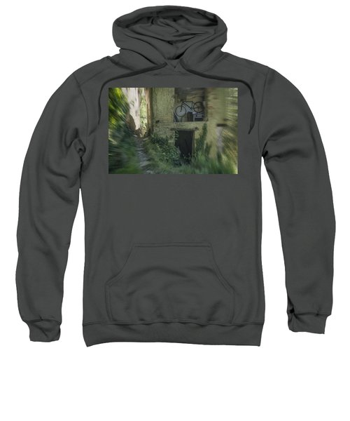 House With Bycicle Sweatshirt