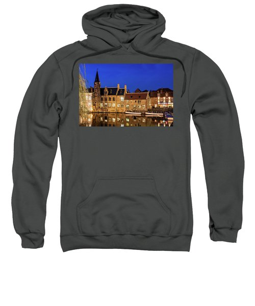 Houses By A Canal - Bruges, Belgium Sweatshirt