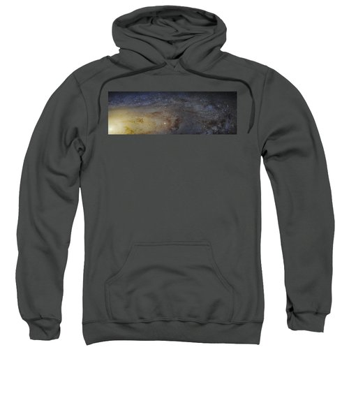 Sweatshirt featuring the photograph Hubble's High-definition Panoramic View Of The Andromeda Galaxy by Adam Romanowicz