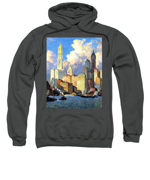 hudson river waterfront - N Y C Sweatshirt