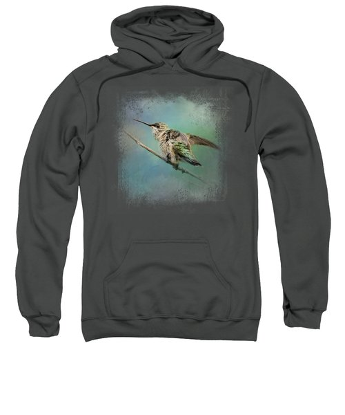 Hummingbird On Mint Sweatshirt