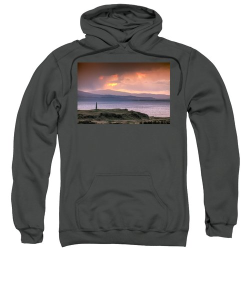 Hutcheson's Monument On The Isle Of Kerrera At Sunset Sweatshirt