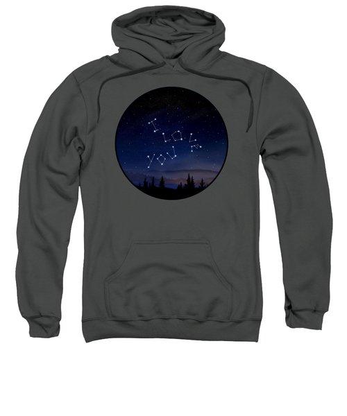I Love You Stars Design Sweatshirt