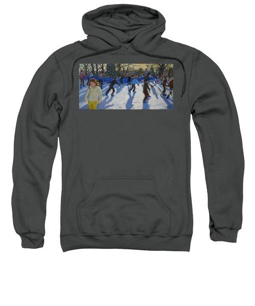 Ice Skaters At Christmas Fayre In Hyde Park  London Sweatshirt