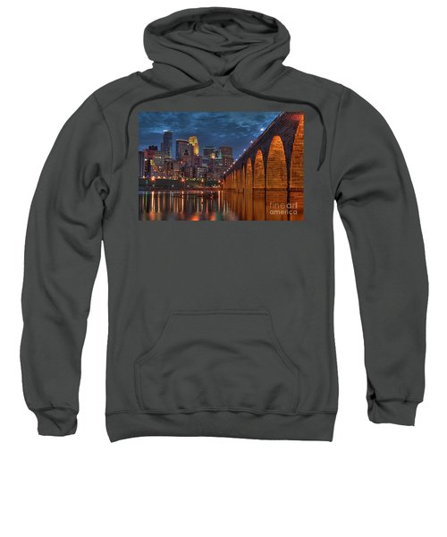 Iconic Minneapolis Stone Arch Bridge Sweatshirt