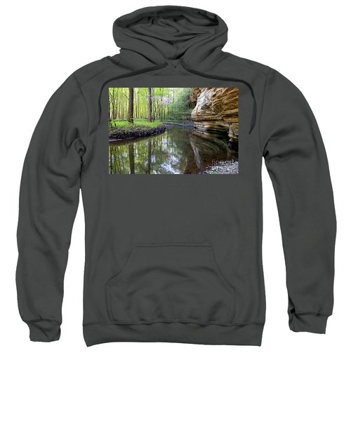 Illinois Canyon In Spring Starved Rock State Park Sweatshirt