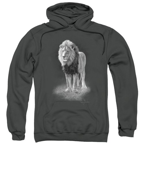 In His Prime - Black And White Sweatshirt by Lucie Bilodeau