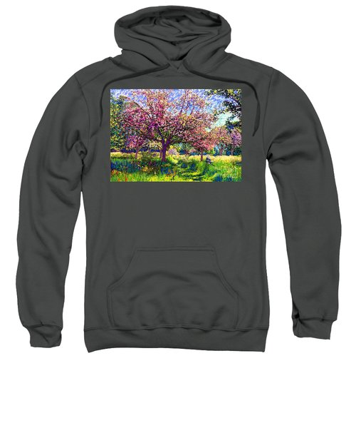 In Love With Spring, Blossom Trees Sweatshirt by Jane Small