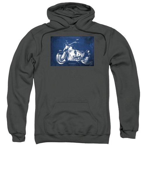 Indian Chief Dark Horse 2012  Blueprint Sweatshirt