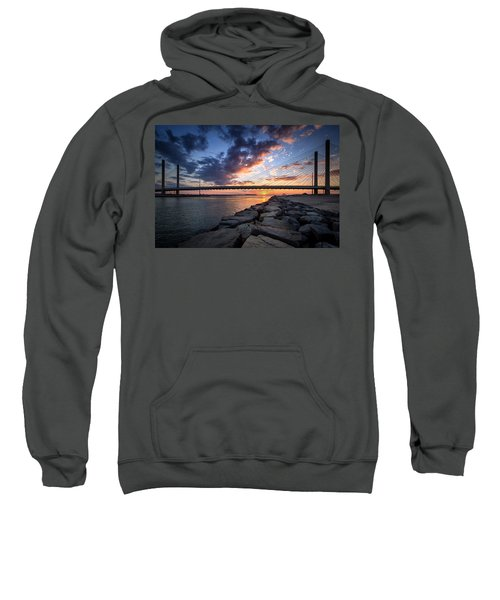 Indian River Inlet And Bay Sunset Sweatshirt