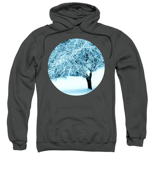 Indigo Blue Nature's Snow Sculpture  Sweatshirt