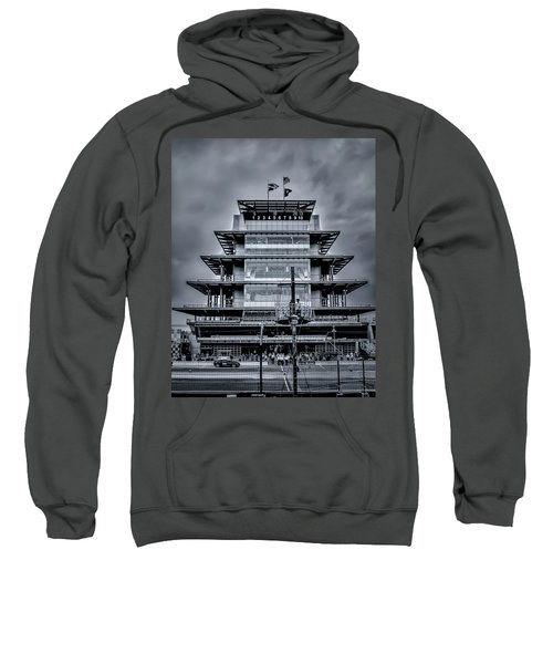 Indy 500 Pagoda - Black And White Sweatshirt