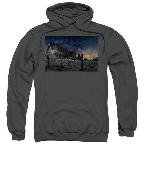 Sweatshirt featuring the photograph Interstellar Farm by Bill Wakeley