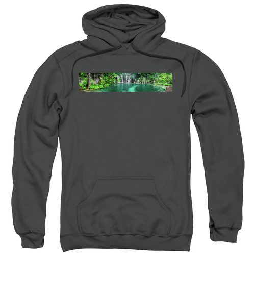 Into The Waterfalls - Plitvice Lakes National Park Croatia Sweatshirt