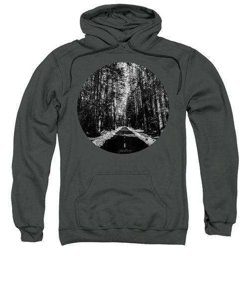 Into The Woods, Black And White Sweatshirt by Adam Morsa