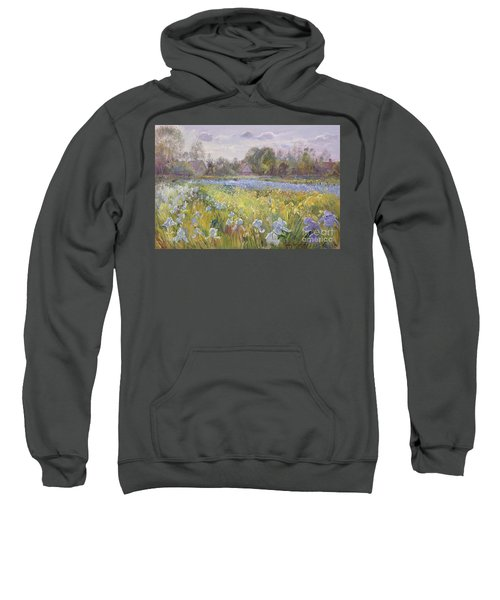 Iris Field In The Evening Light Sweatshirt
