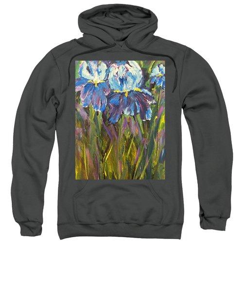 Iris Floral Garden Sweatshirt