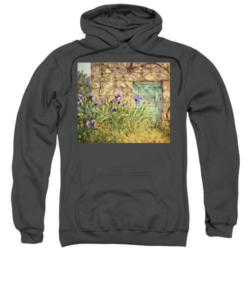 Irises At The Old Barn Sweatshirt