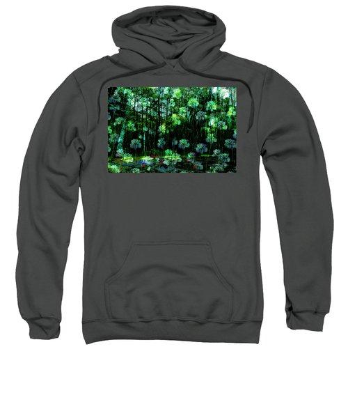 Irises Falling From A Southern Sky  Sweatshirt