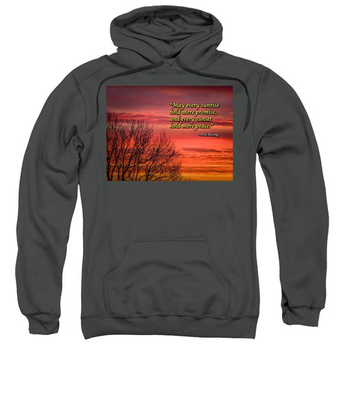 Sweatshirt featuring the photograph Irish Blessing - May Every Sunrise... by James Truett