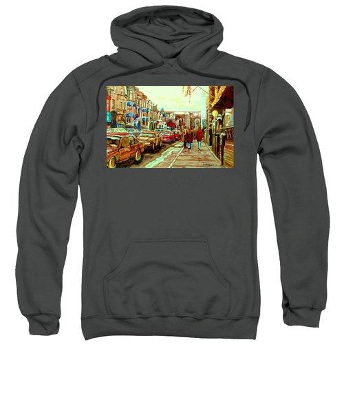 Irish Pubs And Bistros Downtown Montreal Sweatshirt