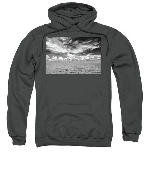 Island, Clouds, Sky, Water Sweatshirt
