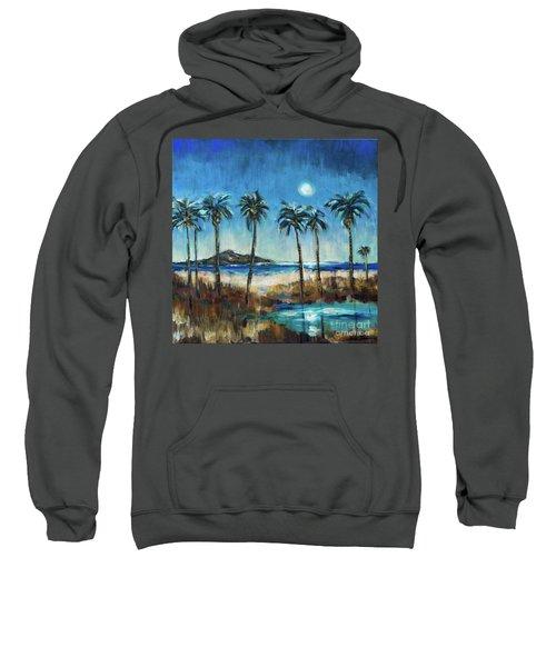 Island Lagoon At Night Sweatshirt
