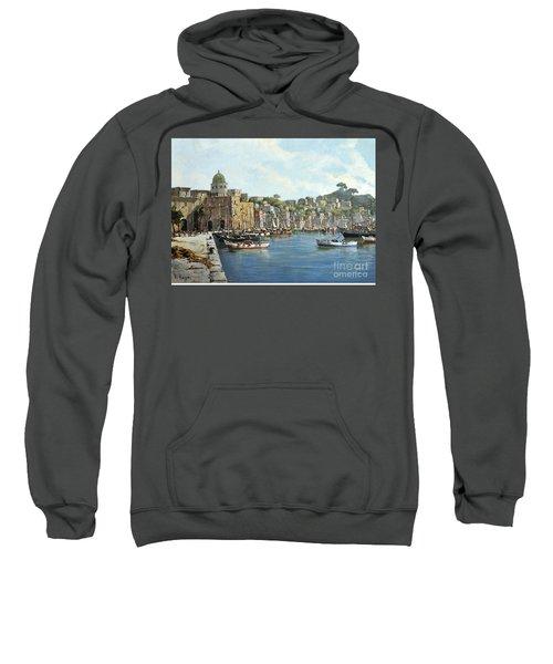 Island Of Procida - Italy- Harbor With Boats Sweatshirt