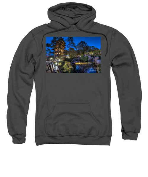 Japan Epcot Pavilion By Night. Sweatshirt