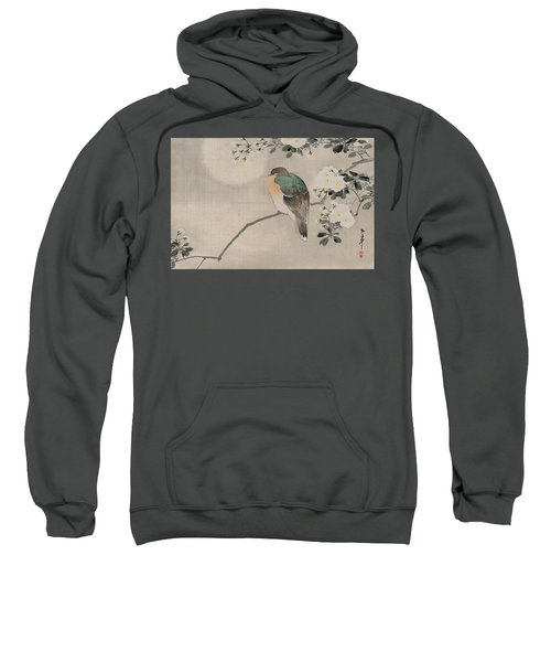 Japanese Silk Painting Of A Wood Pigeon Sweatshirt by Japanese School