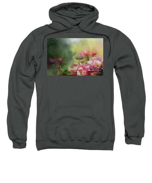 Japanese White-eye On A Blooming Tree Sweatshirt