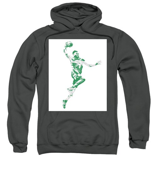 Jaylen Brown Boston Celtics Pixel Art 10 Sweatshirt