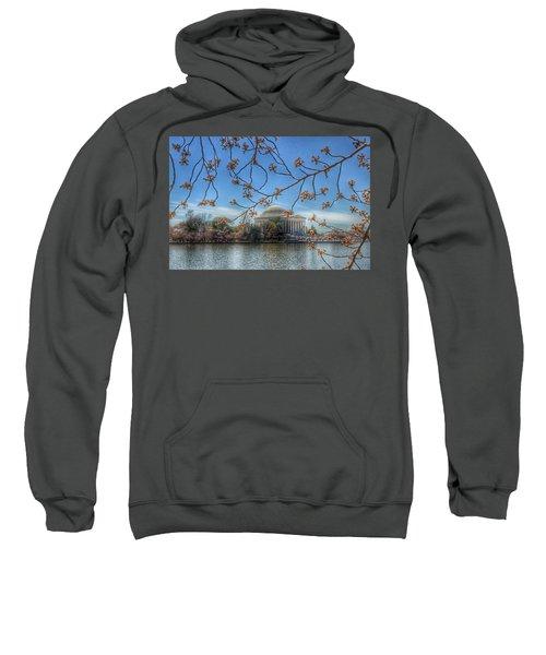 Jefferson Memorial - Cherry Blossoms Sweatshirt by Marianna Mills