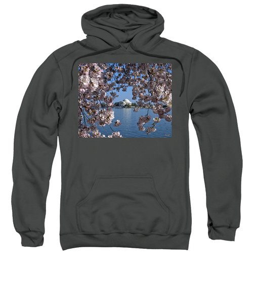 Jefferson Memorial On The Tidal Basin Ds051 Sweatshirt