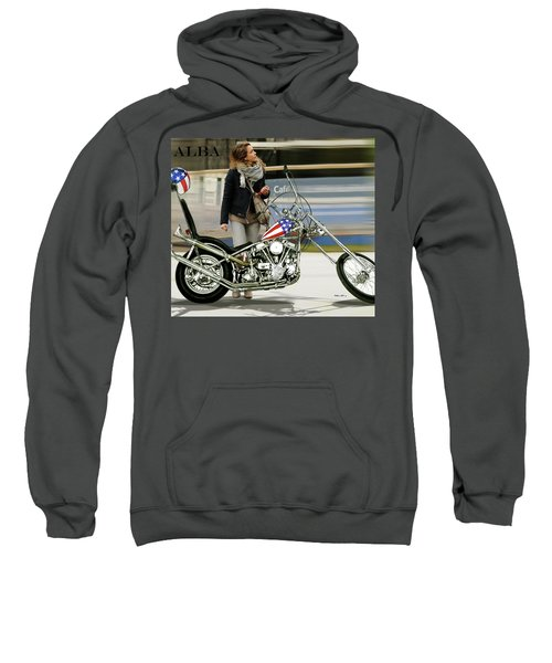 Jessica Alba, Captain America, Easy Rider Sweatshirt