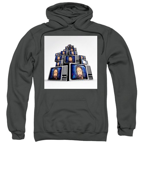 Jesus On Tv Sweatshirt