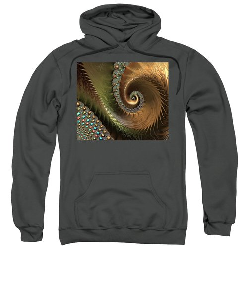 Jewel And Spiral Abstract Sweatshirt
