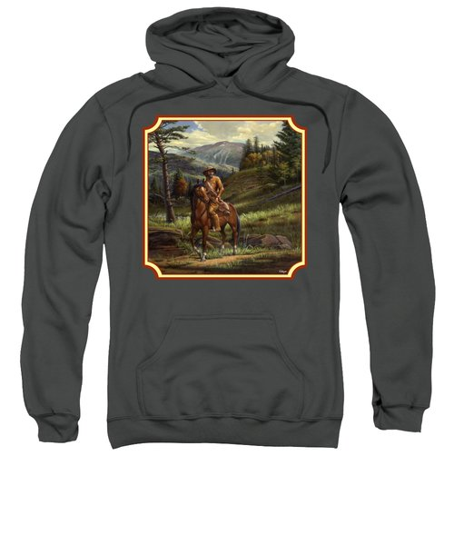 Jim Bridger - Mountain Man - Square Format Sweatshirt